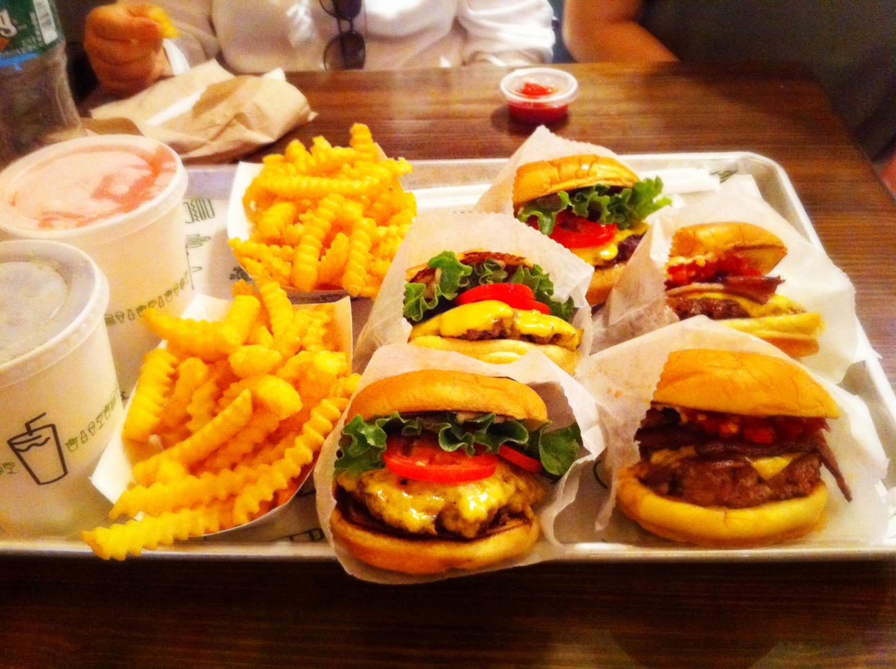 ... love shake shack i tried the smoke shack burger on the right which has