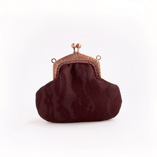 brown purse, кружевной кошелек