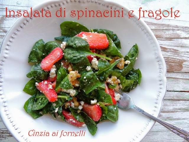 insalata di spinacini e fragole