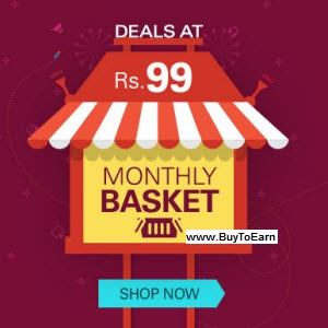 Ebay : Get Ebay Monthly Basket Deals Rs. 100 off + Free Shipping : BuyToEarn
