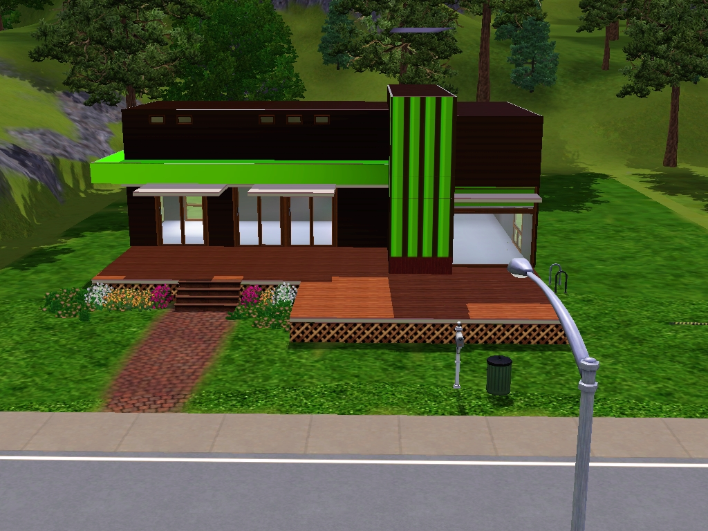 Sims 3 small modern house the image kid for Modern house 3