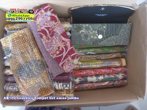 souvenir dompet list emas jumbo murah
