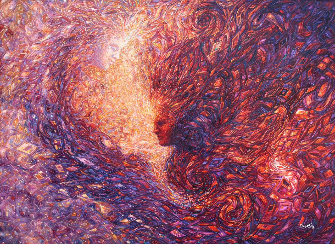 02-Manifestation-of-the-Higher-Self-Eduardo-R-Calzado-Paintings-in-Swirls-of-Colour-www-designstack-co