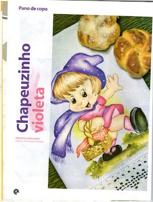 chapeuzinho violeta para pintar