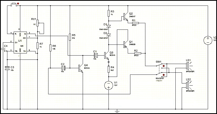 60  transistor intercom circuit