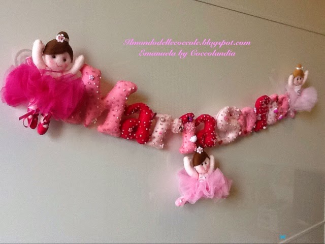 Banner, ballerine, feltro, pannolenci, felt, handmade.