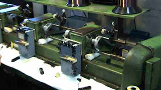 Seymour Duncan's vintage pickup winder from the Gibson Factory