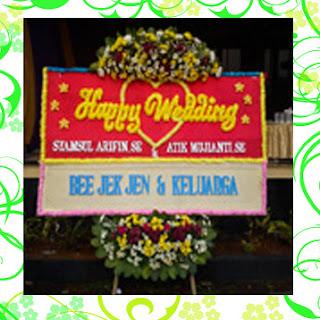 bunga papan happy wedding toko bunga cibubur