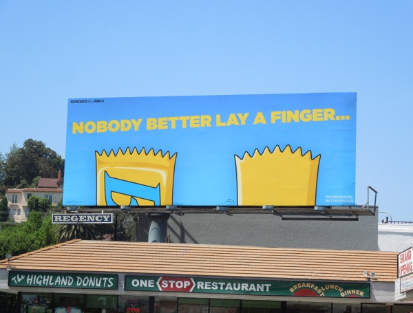 Butterfinger Bart Simpson billboard