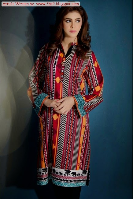 Maria.B M-Girl Ready to Wear Eid Collection 2014-2015 with Prices