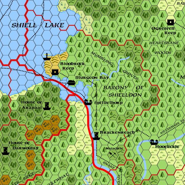 Mystara Alphatia Foresthome Shielldon map
