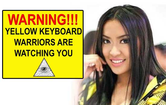 Sexy girl group leader was warned by 'YELLOW KEYBOARD WARRIORS'