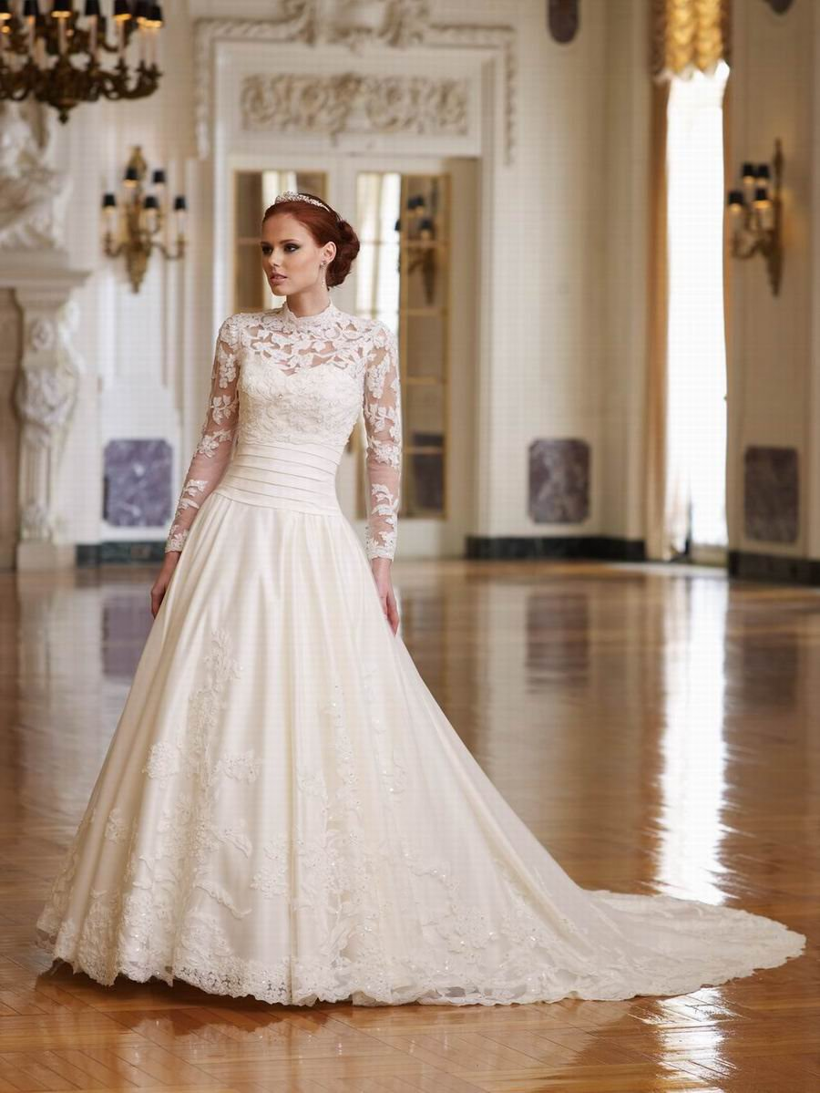 Petite wedding dresses with sleeves lace sleeve for Long sleeve lace wedding dresses