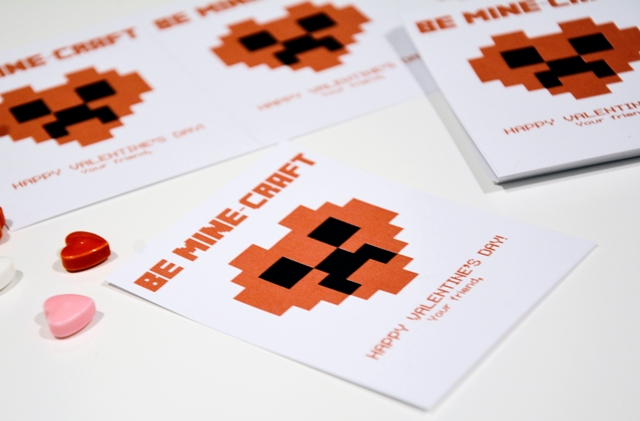 minecraft school valentines printable 3