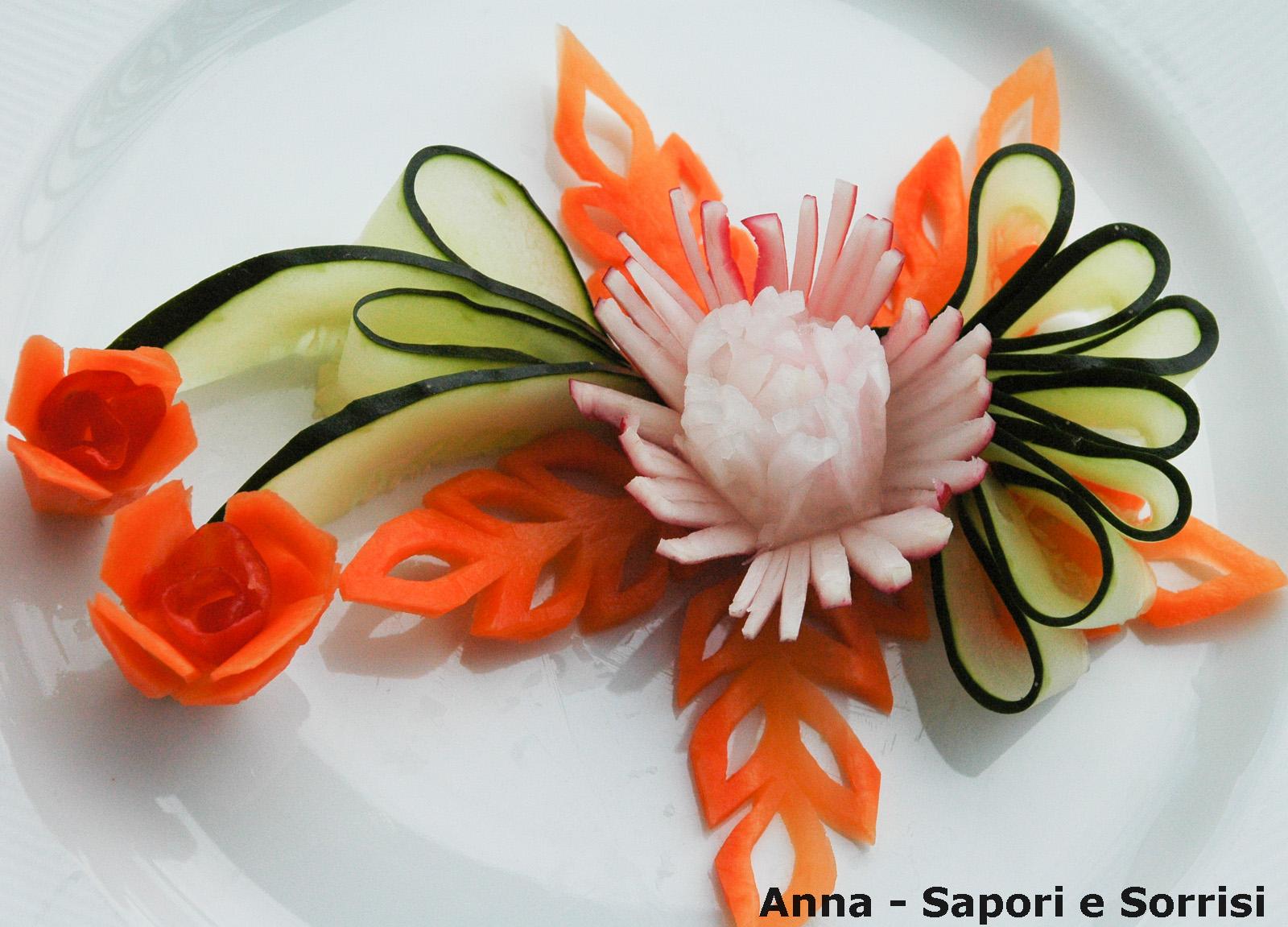 ANNA-SAPORI E SORRISI: Decorazioni piatti con verdura