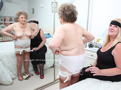old hot granny getting dressed