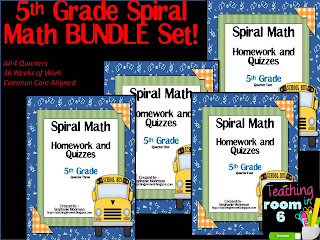 5th grade, math, spiral math homework.