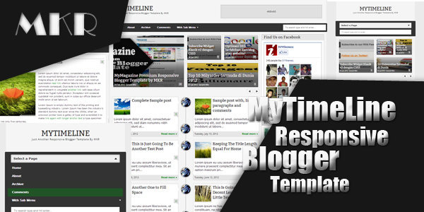 MyTimeLine Responsive Blogger Template by MKR