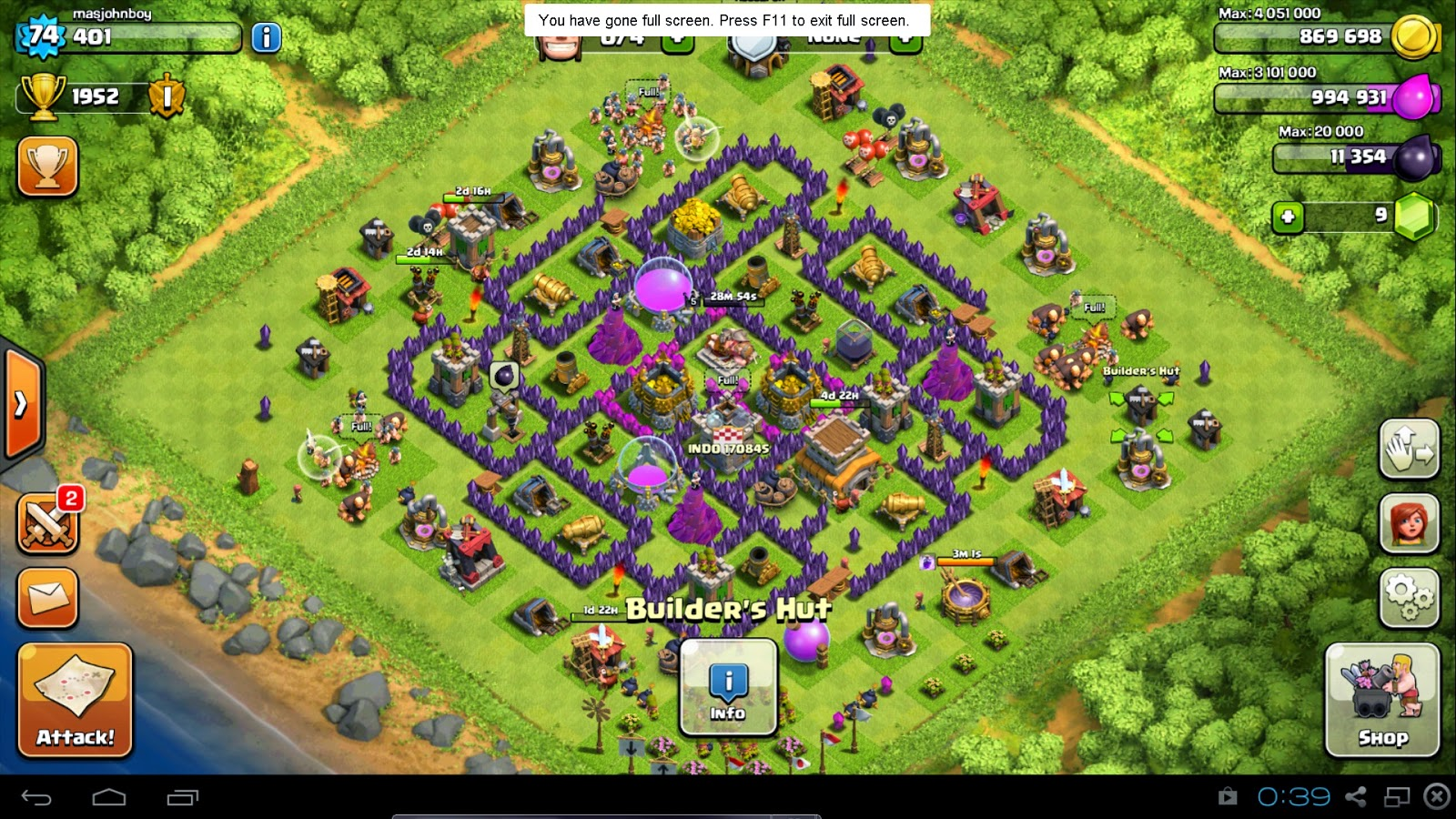 hybrid bases clash of clans