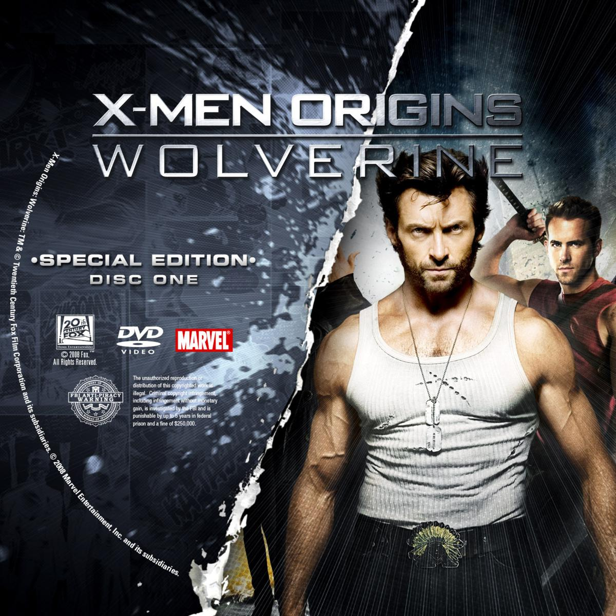 Label DVD X-Men Origins Wolverine Special Edition Disc One