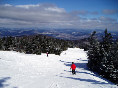 A beautiful early spring day skiing at Gore - Daniel on the Cloud trail.  The Saratoga Skier and Hiker, first-hand accounts of adventures in the Adirondacks and beyond, and Gore Mountain ski blog.