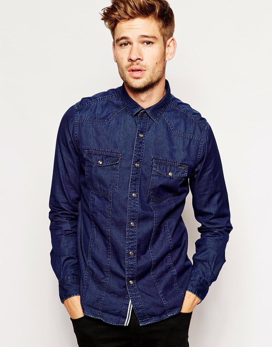Купить мужские джинсовые рубашки от 6 000 тг в интернет.