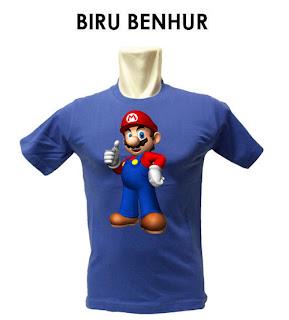 Kaos Super Mario Bros, Mario Bros, Super Mario Bros, Kaos, kaos murah, kaos anak, kaos anak mario bros