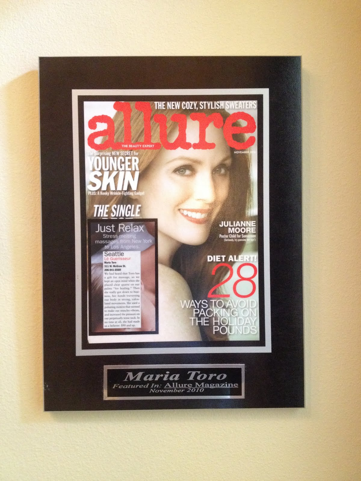"Allure voted me ""Best in Seattle""."