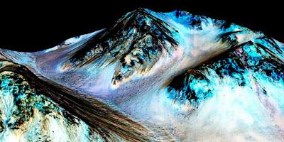 Air di Mars Telah Ditemukan di Planet Mars Ada Kehidupan