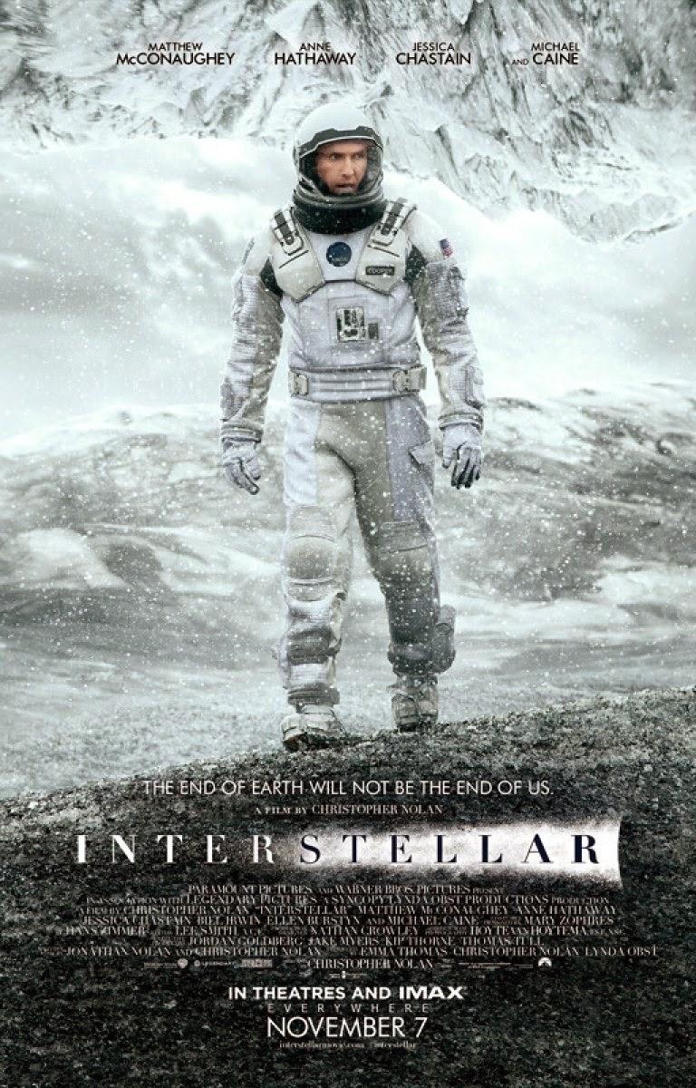 Interstellar Movie Poster, Directed by Christopher Nolan, Starring Matthew McConaughey