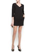 mango siyah kısa elbise modeli