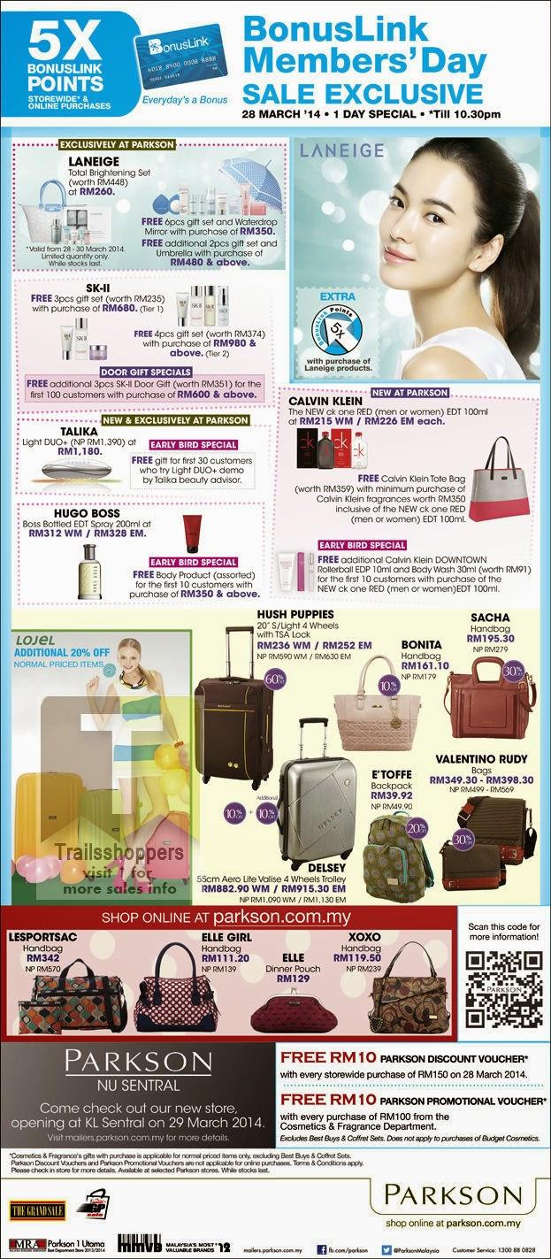 Parkson Bonuslink Member Sale Malaysia