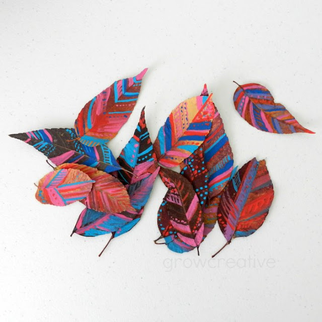 Painted Leaves- Tribal Designs: Grow Creative