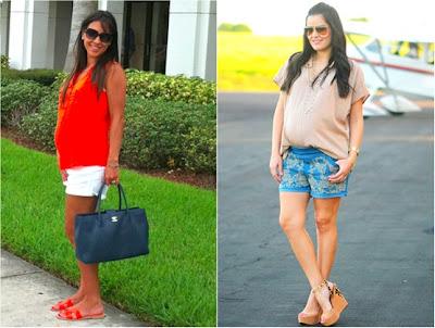Roupas de verão para grávidas - Vestidos - Saias - Shorts