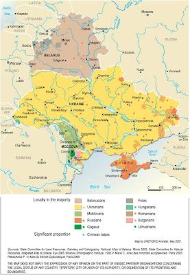 Osteuropa Karte Politisch Bild