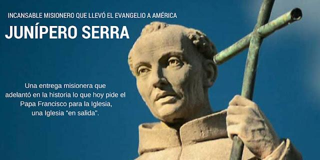 Canonización de fray Junipero Serra por el Papa Francisco en su viaje a Estados Unidos