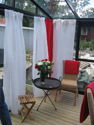 Sätta upp gardiner på balkong