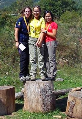 Janette Mari, a la derecha.Bronce del campeonato de Catalunya de bosque 3D
