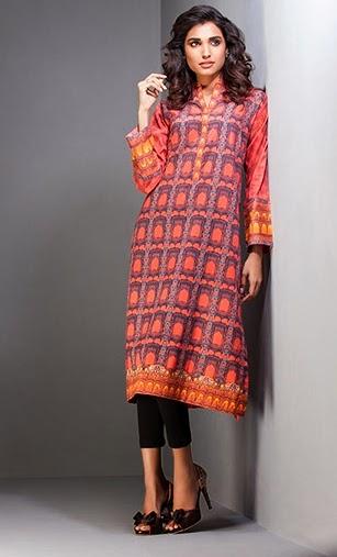 Gul Ahmed Fall-2014 Digital Printed Dresses