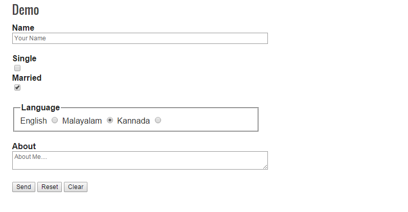 CLEARING AND RESETTING FORMS WITH JQUERY