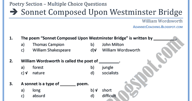 upon westminster bridge poem summary