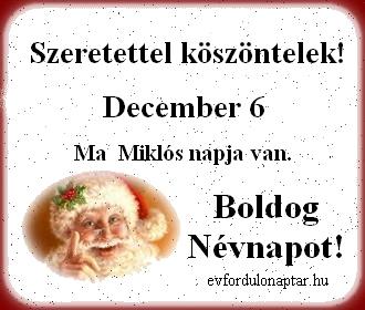 December 2 - Miklós névnap