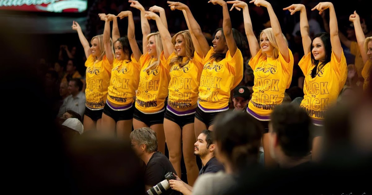 Los Angeles Lakers 2014 Cute Cheerleaders Nba Usa Hd Desktop