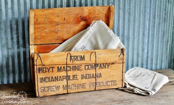 Vintage Wooden Shipping Crate by Knick of Time via http://www.prodigalpieces.com