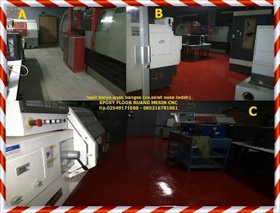 epoxy  floor ruang bengkel