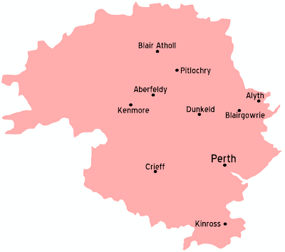Map of Perth and Kinross Province Area