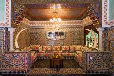 d coration salon traditionnel marocain. Black Bedroom Furniture Sets. Home Design Ideas