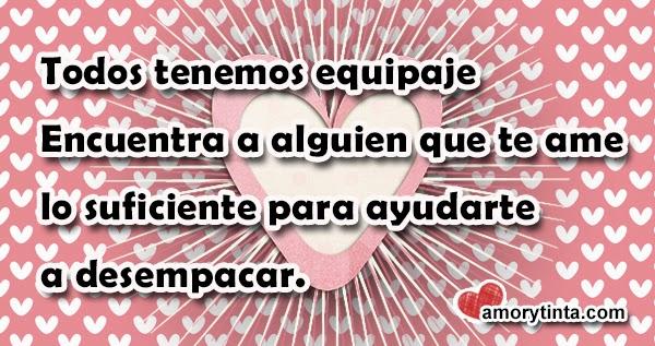 imagen con corazones rosados y frase de amor