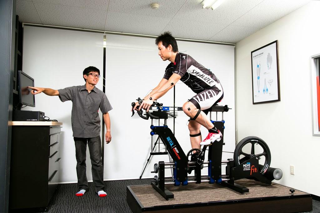 カミハギサイクル小牧本店に新設されたボディージオメトリーフィット・ウィズ・リトゥール専用のスタジオ