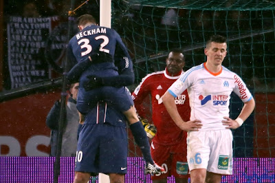 David Beckham et Zlatan Ibrahimovic se prennent dans les bras